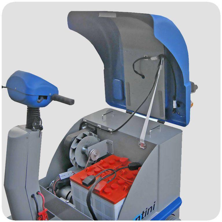 masina de maturat cu om la bord mini sweeper fiorentini euc2
